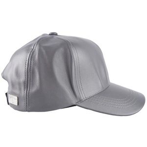 olive & pique Accessories - Kylie Gray Vegan Leather Ball Cap